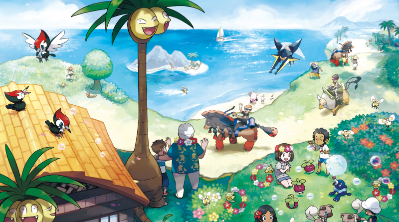 Bild von Eingen Pokemon aus dem Spiel Pokemon Sonn und Mond